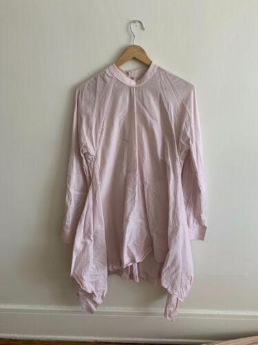 Eckhaus Latta Pale Lavender Cotton Shirt Dress L