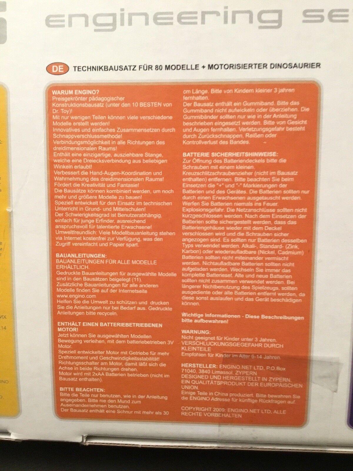 Engino Baukasten Baukasten Baukasten für 80 Modelle 7b7af6