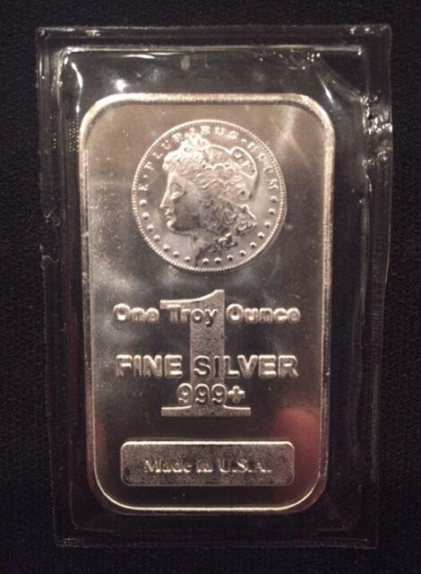 1 Troy Ounce Oz Silver Bar 999 Fine