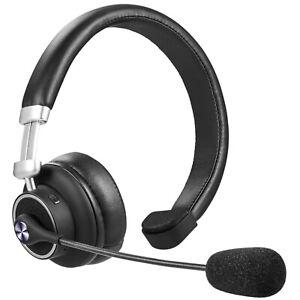 Trucker Bluetooth Headset Over Ear Headphone Noise Cancel Mic For Calls Music Ebay