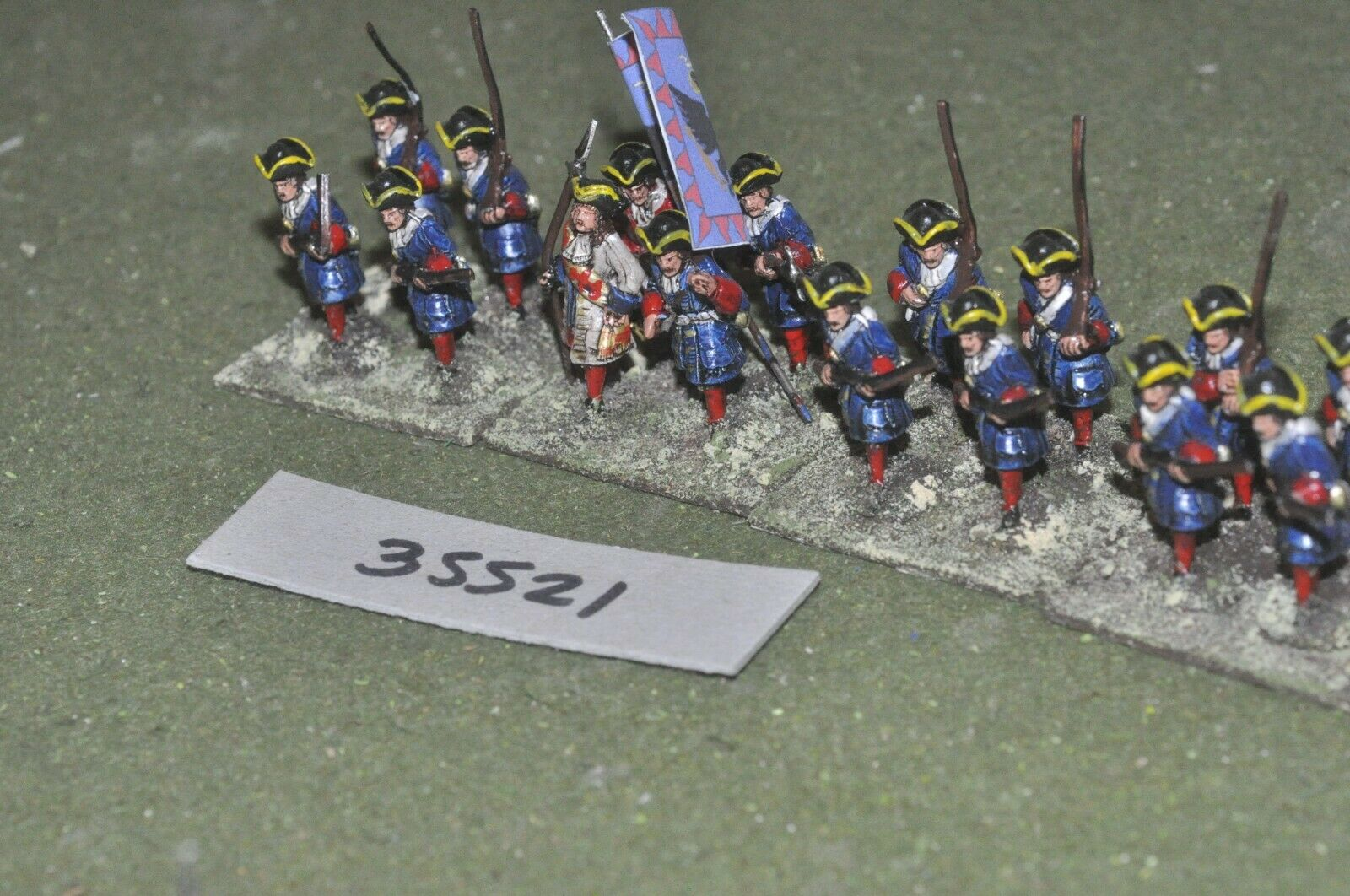 25mm marlburian   austrian - regiment 16 figures - inf (35521)