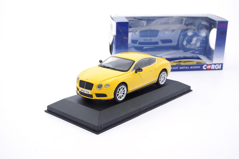 CC57002 - - - Corgi Bentley Continental GT V8 S - yellow - RHD - 1 43 8efb0e