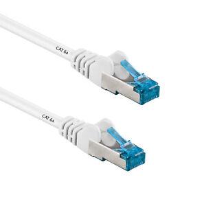 10m cat6a patchkabel netzwerkkabel ethernet kabel dsl lan netzwerk kabel wei ebay. Black Bedroom Furniture Sets. Home Design Ideas