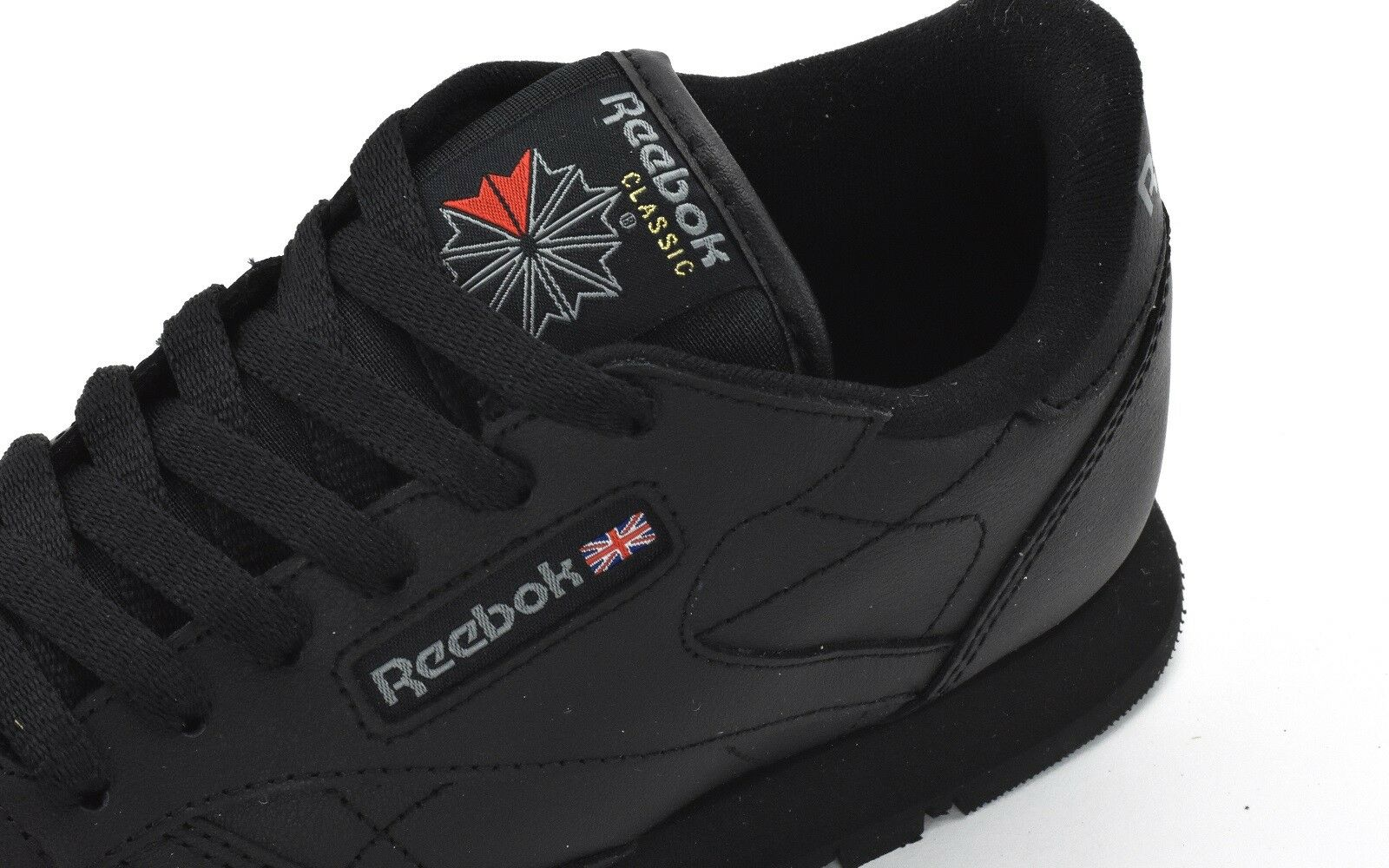 015ac06657fd21 Reebok Classic Leather Shoes Children Trainers Black 50149 EUR 36 5 for  sale online