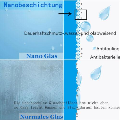 Nano+ESG Glas 3-teilig Faltwand Trennwand Badewannenaufsatz Duschwand Abtrennung