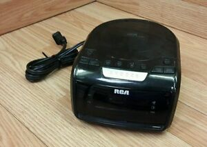 genuine rca rp5605 a black desktop cd player alarm clock read rh ebay com RCA Television Owner Manual RCA 5 CD Changer Manual
