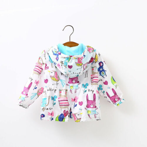 Kids Baby Girls Spring outerwear Hooded coats Summer Prevent bask Jacket clothes