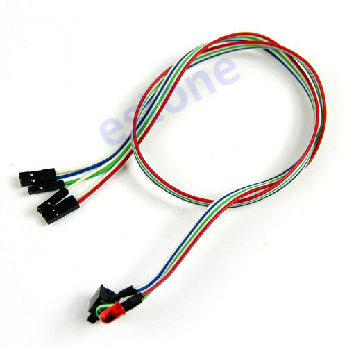 """Computer PC Desktop LED External Power Switch Reset Button With Cable 1.6M//63/"""""""