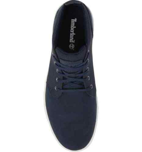Men/'s Timberland Davis Square Leather//Fabric Chukka Navy Nubuck TB0A1SF3