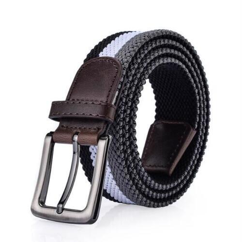 Hommes ceinture Casual Fashion taille Toile Decor Luxe Patchwork Tissu boucles métalliques