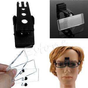 EyeglassFolding-Clip-On-Flip-Loupe-Magnifying-Handsfree-Glass-Precise-Magnifier