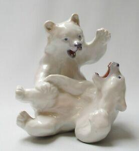 Royal-Copenhagen-Polar-Bears-Fighting-Model-No-1107