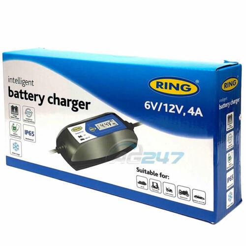 Ring RSC404 6v 12v Digital 4A Intelligent Smart Car Motorbike Battery Charger
