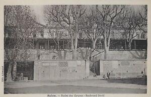 Postcard-France-Salon-Ecoles-des-Garcons-Boulevard-David-1940s
