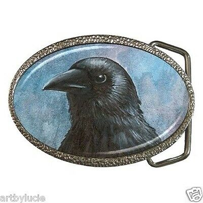 Belt Buckle from art painting Bird 59 Crow Raven by L.Dumas