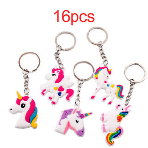 Unicorn-Keyring-Flamingo-Key-Ring-Bag-Hanging-Pendant-Car-KeyChain-Party-Decor