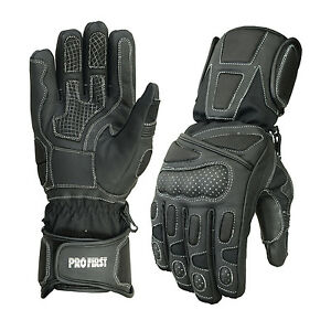 Mens-Waterproof-Motorbike-Motorcycle-Gloves-High-Cow-Leather-Cordura-Protection