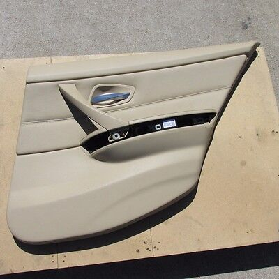 Inner Door Panel Handle Pull Trim Cover Beige Left side for BMW E90 328i 335iLHD