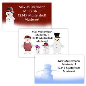 40-Adressetiketten-Adressaufkleber-oder-10-Visitenkarten-Motiv-034-Winter-034