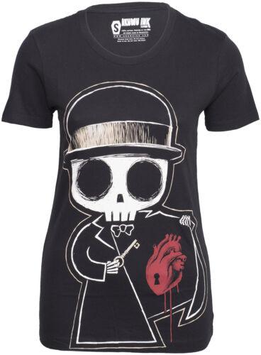 Akumu Ink LOCKED AWAY Death Heart Oberteil SHIRT Gothic