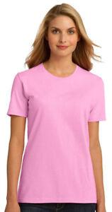 Port-amp-Company-Women-039-s-Essential-100-Organic-Ring-Spun-Cotton-T-Shirt-LPC150OR