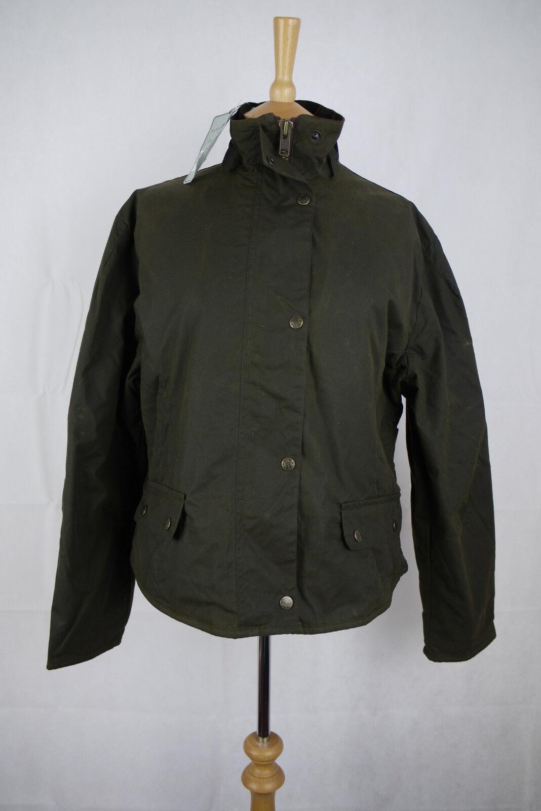Alan Paine Sandon encerado chaqueta - tamaño 14 RRP