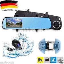 "4.3""TFT Full HD 1080P Dual Cam Auto DVR Dash Rückspiegel Spiegel Kamera Recorder"