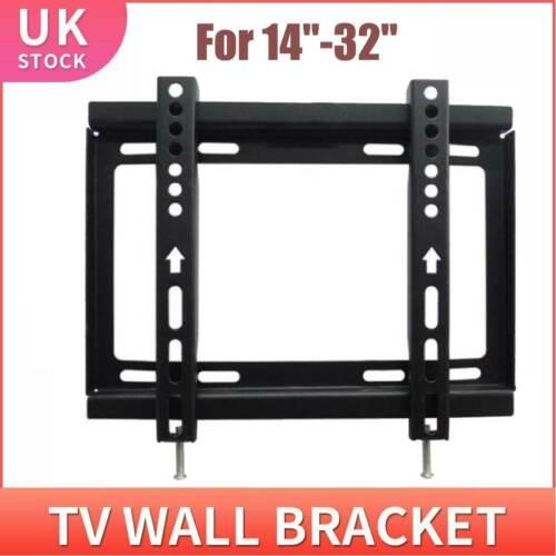 Slim TV Wall Mount Bracket Ultra Slim Flat Plasma LCD LED 14/'/'-32/'/' inch
