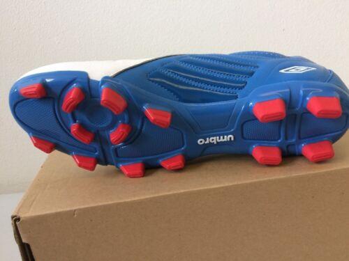 GEOMETRA PREMIER A-FG Football Chaussures 80379U-5CT Cuir Bleu /& Blanc