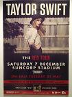 TAYLOR SWIFT 2013 Australian Tour Poster **BRISBANE SUNCORP STADIUM** Red ***NEW
