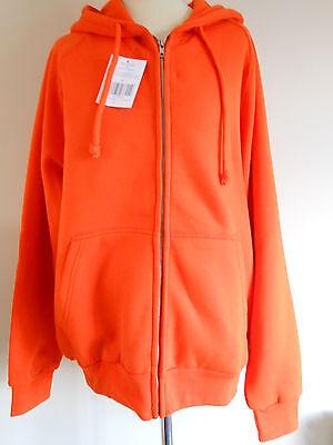FäHig Thermal Lined,hooded,zipped Orange Sweatshirt M-2xl,snap N' Wear(usa) Rrp$69 Fest In Der Struktur