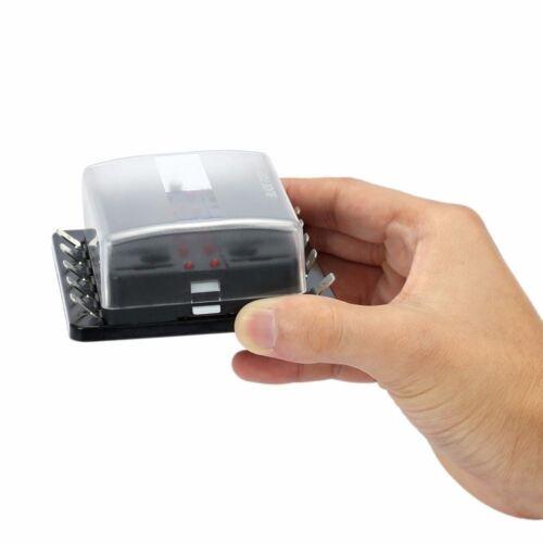10-Way Car Auto Boat Bus UTV Blade Fuse Box Block Cover 12V w// LED Indicators