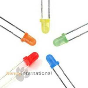 3mm-DIFFUSED-LEDs-RED-GREEN-BLUE-YELLOW-ORANGE-10-15-20-50-100-Arduino
