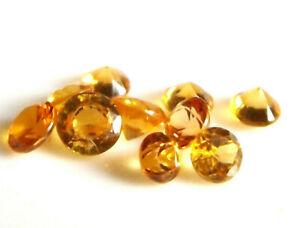 10x-Saphir-Safir-Orange-LOT-Rund-Brillant-1-27ct-2-5-3-2mm-1213A