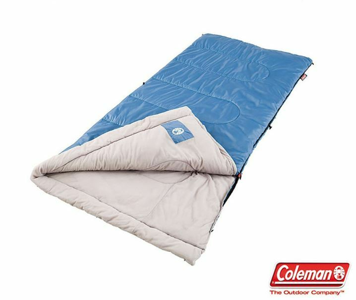 Authentic Coleman Sleeping Bag Camping Traveling Carry Bedding Mat Blanket Pad