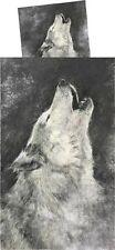Bettwäsche Howling Wolf Wölfe Mikrofaser 135 x 200cm