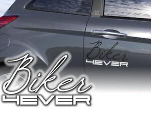 Auto-Aufkleber-Biker-fuer-immer-Sticker-Motorrad-60cm-JDM-Decals-OEM-Autoaufklebe