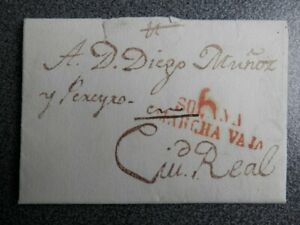 PREFILATELIA-CARTA-COMPLETA-ANO-1828-LA-SOLANA-A-CIUDAD-REAL-PORTEO-6-RARA
