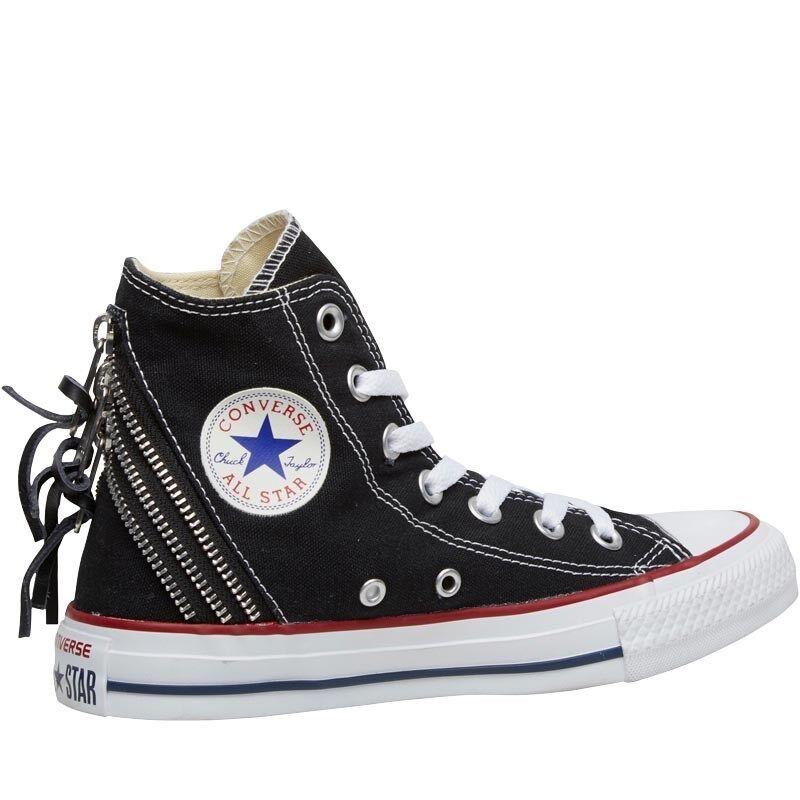 new style 45e8a 337f6 ... Converse Femme Femme Femme CT All Star Hi Triple Zip  Baskets-Noir-Taille 3 ...