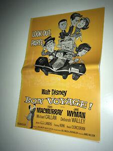 BON VOYAGE Movie Pressbook 1962 Walt Disney Fred MacMurray Paris Travel Comedy