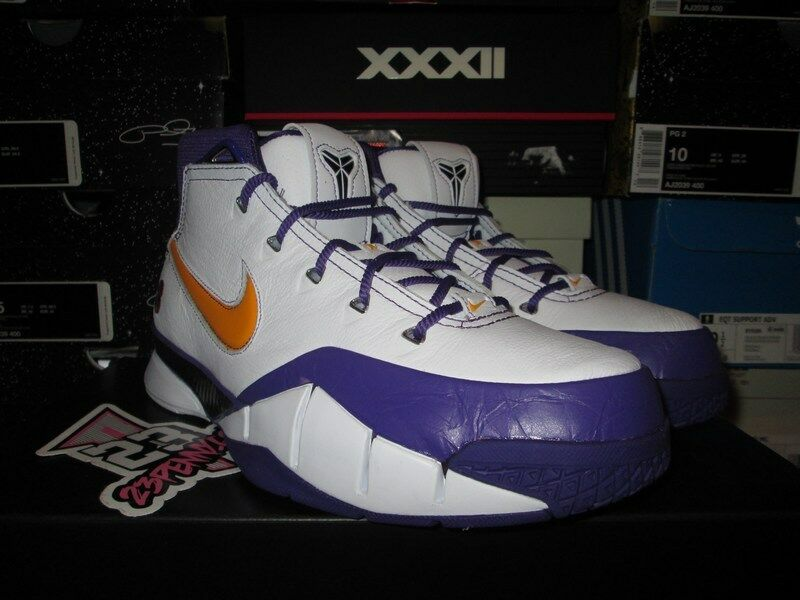 NEW 2018 PROTRO ZOOM KOBE 1 I PROTRO 2018 FINAL SECONDS PURPLE WHITE DEL SOL AQ2728 101 2e1bb7