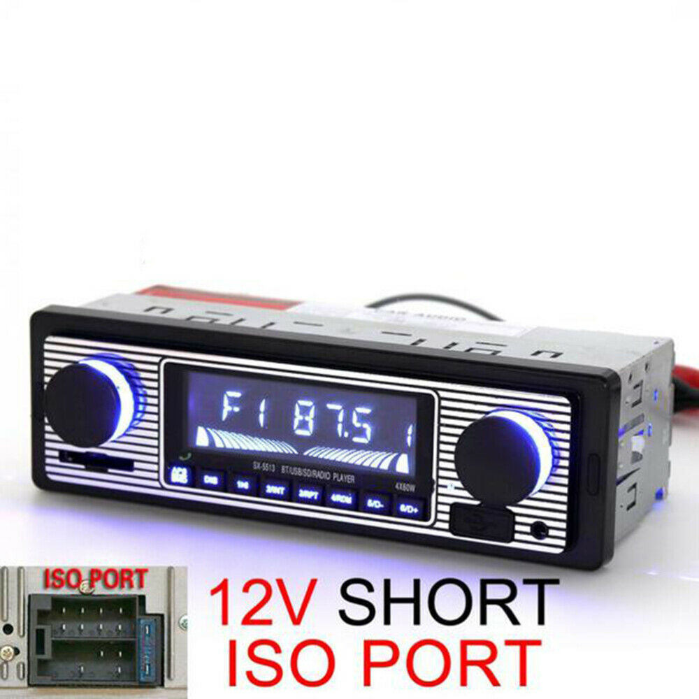 autoradio: AUTORADIO FM STEREO BLUETOOTH AUTO LETTORE MP3 USB SD CARD INGRESSO AUX RADIO