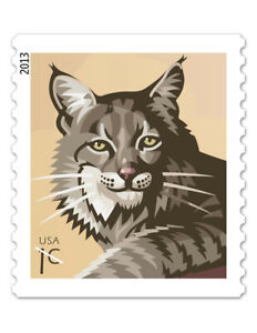 USPS-New-1-Cent-Bobcat-Water-Activated-Gum-Stamp-Roll-of-10-000
