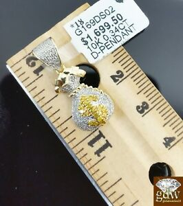 Real-10k-Yellow-Gold-Money-Bag-Real-Diamond-Custom-Design-Pendant-charm-Unisex