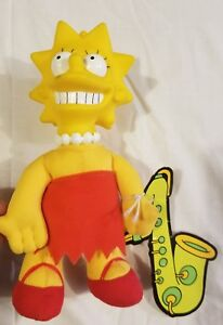 Lisa Simpson 1990 Plush Doll With Tag Burger King The Simpson's Toy Vintage
