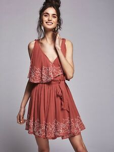 Free-People-Sylvia-Mini-Dress-Size-Extra-Small-NEW-MSRP-168
