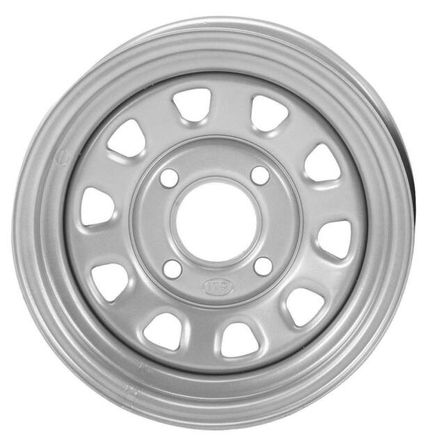 ITP Delta Steel Black Wheel with Machined Finish 12x7//4x156mm