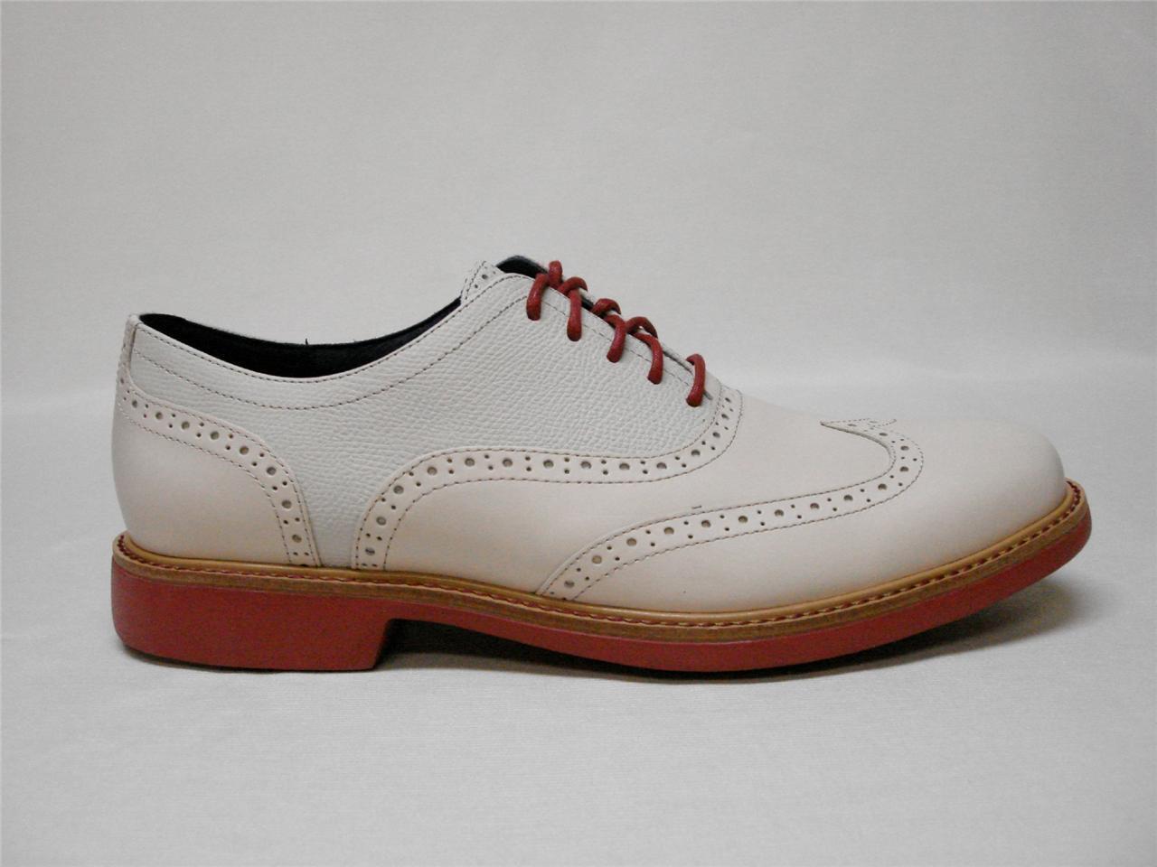 Nuevo En Caja  COLE HAAN gran JONES punta del ala  Para Hombre Zapato  Marfil   11.5  Bonito