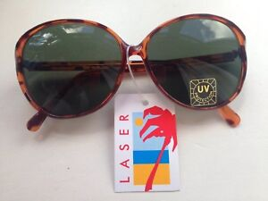 14c144cf4d Image is loading Sunglasses-round-tortoiseshell-frames-tinted-lenses -vintage-1980s-