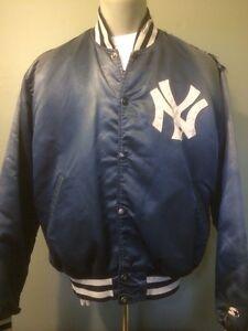 5af4026f5 Details about Vtg 80s 90s New York Yankees Satin Starter Jacket MLB  Baseball Coat Mens XL Snap